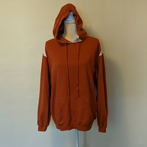 Port Authority Sport Tek orange and white hoodie